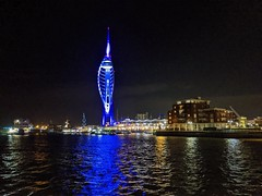 Spinnaker Tower blue (snaprails) Tags: night portsmouth hampshire southsea seaside