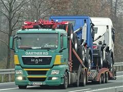 MAN TGX trucktransporter drawbar from Gartner KG Austria. (capelleaandenijssel) Tags: wl111bb truck trailer lorry camion lkw