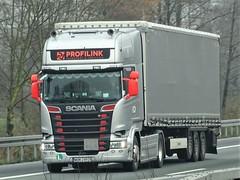 Scania R-series topline from Profilink Poland. (capelleaandenijssel) Tags: wgm24928 pl polska truck trailer lorry camion lkw