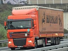 DAF XF105 spacecab from Kocaslan Turkey. (capelleaandenijssel) Tags: 34gc3707 truck trailer lorry camion lkw tr