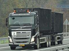 Volvo FH4 drawbar from Verstappen Holland. (capelleaandenijssel) Tags: 08blf3 truck trailer lorry camion lkw drawbar metaal scrap ijzerhandel