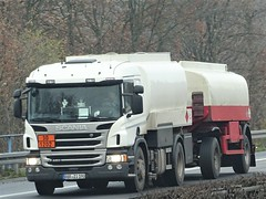 Scania P450 fueltanker drawbar from Unknown Germany. (capelleaandenijssel) Tags: borzi190 truck trailer lorry camion lkw tanker citerne