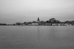High tide at Bosham (Peter Meade) Tags: petermeade pjmeade peaceful bosham westsussex seaside tidalinlet church calm blackandwhite hightide canoneos5dmarkiii canonef2470mmf4lisusm