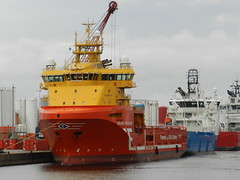 Viking Princess, Aberdeen Harbour, Aberdeen, Oct 2019 (allanmaciver) Tags: viking princess red yellow platform supply vesssel north sea east coast aberdeen colours contrast allanmaciver