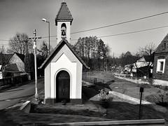 Roadside chapel (wojciechpolewski) Tags: chapel sacral architecture blanconegro blackwhite schwarzweis poland wpolewski countryside street streetexploration photos photo