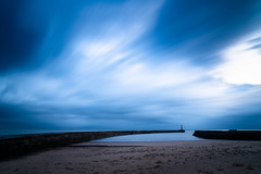 Seaham Friday Morning, not quite a sunrise (Durham Stephen) Tags: longexposure lighthouse seascape sunrise moody sonya7iii clouds dawn bluehour cloudstreak
