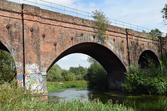 Railway viaduct (SteveInLeighton's Photos) Tags: england stephenmakin kent 2019 nikond3300 august canterbury river viaduct railroad railway stour