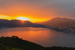Ohh amazing sunset... love you so! (vicamorozova) Tags: montenegro sunset vicamorozova wwwvicamorozovacom photographer nature landscape bay kotor sun mountains red colors 50mm canon6d canonlense5012