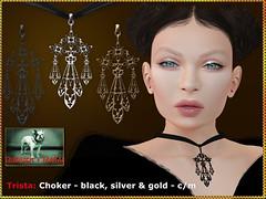 Bliensen - Trista - choker (Plurabelle Laszlo of Bliensen + MaiTai) Tags: bliensen bliensenmaitai secondlife sl goth gothic victorian darkvictoriana choker necklace vampire antique vintage jewely