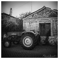 Daddy's Home From Work (Alfred Grupstra) Tags: blackandwhite oldfashioned old antique retrostyled obsolete history illustration classicalstyle victorianstyle cultures print engravedimage tractor paintedimage ruralscene drawingartproduct landvehicle isolatedonwhite farm