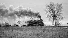 IMGP8385 (Drew's Arcade) Tags: black white bnw steam train coal pere marquette 1212 north pole express