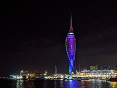 Spinnaker Tower purple (snaprails) Tags: night portsmouth hampshire southsea seaside