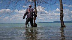 Trasimeno Hiking (marcostetter) Tags: travel nature jeans wetclothes wetclothing wetlook wetjeans water wetpants walking wateraction wetshirt barefoot fashion fullyclothed