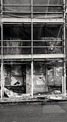 Derelict. (Richard Abson.) Tags: derelict shop crosshills halifax calderdale westriding westyorkshire yorkshire samsung galaxy galaxys6 monochrome bw blackandwhite black white north northbridge bridge richardabson