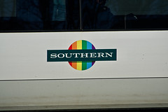 Southern Pride (Deepgreen2009) Tags: southern pride gay electrostar 377 logo roundel inclusive rainbow railway train transport