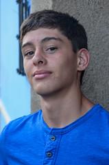 Portrait of Bailey (Pejasar) Tags: antigua guatemala colorful boy portrait teen blueshirt confident