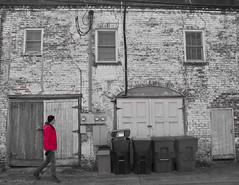Savannah Alley (paulgarf53) Tags: savannah georgia street streetphotography selectivecolor red history south nikon d700 topaz people