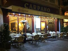 sitting (Slávka K) Tags: light winter cafe evening mainstreet street 2019 december