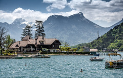 Memories....xx (shona.2) Tags: water boats nature beautiful spring tourism scenic mountains alps french france talloires lakeannecy lake vacation holiday honeymoon 5 luxury hotel l'aubergeduperebise