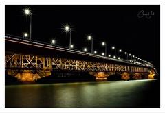 Harbour Bridge Lights (cjhall.nz) Tags: longexposure 35mm sunstars architecture structure newzealand framedinnz ponsonbycruisingclub marina westhaven sigma35mmf14art canonr waitemata landscape night lights bridge harbour auckland
