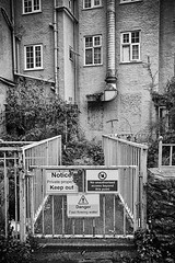 69 of Year 6 - The Mill is dead (I'm Tim Large) Tags: coxsmill cheddar gorge somerset old ruin desolate gate secure shut signs 365 69 fuji fujifilm x70