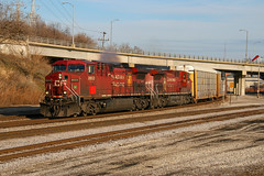 CP 199 at the Cut-Off (dlanek) Tags: cp canadianpacific ac4400cw