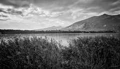 December (Gio\/anni) Tags: gio☼ bw bianconero bn luce ombra chiaroescuro light blackandwithe december mountain best sky clouds grey weather lake landscape waterscape atmospheric beautiful winter frost ultrawide monochrome nature serene awesome scenery