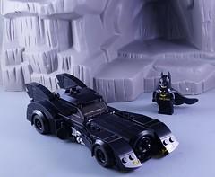 City Scale Batmobile (Hobbestimus) Tags: lego movie toys batman gotham batmobile burton 89 moc