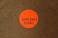 Orient Coal Super-Therm (front) (fregettat) Tags: coal coaladvertising coalmining coalsales scattertag kenallencollection