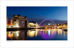Newcastle Quayside (Mike Palmer Fauxtography) Tags: newcastle gateshead sage millenium bridge river tyne quayside long exposure canon eos 7d lee filters bigstopper evening