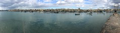 102_Marsaxlokk (SmoKingTiger1551) Tags: malta isle mediterranean marsaxlokk sea water clouds boats port panorama