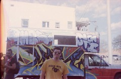graffiti truck (~filth~filler~) Tags: kodak gold color 400iso film philm 2015 pony135 globe miami arizona miningtown sweeturbandecay asianman nathan nate andy warpigs 35mm