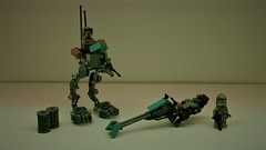 Lego 41st AT-RT & Speeder bike MOC (SenateCommando Designs) Tags: lego star wars moc atrt speeder minifig scale