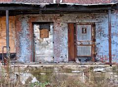 Building in disrepair (sharon'soutlook) Tags: building old disrepair doors twodoors hamiltonoh decaying dilapidated decayed frenchbauerdairy ruins
