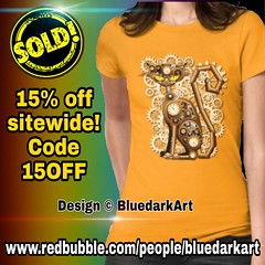 🔥15% off sitewide! Code 15OFF 🔥👉 www.redbubble.com/people/bluedarkart 🌟   SOLD!  #Steampunk #Cat #Vintage #Style #tshirt #Design © #BluedarkArt #TheChameleonArt 👉 https://rdbl.co/2PnGs8v 🐱  ~~▪~~▪~~▪~~ (BluedarkArt) Tags: design thechameleonart tshirt cat style steampunk vintage bluedarkart