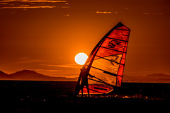 windsurf_at_sunset_2 (Akat Photography) Tags: sunset tramonto windsurf arancione vela mare sea wind vento hyeres