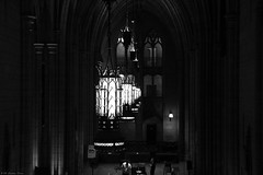 Cathedral of Learning lights (B+W) (Can Pac Swire) Tags: pittsburgh universityofpittsburgh university campus usa unitedstates america american building architecture bw image shot photo 2018aimg4509bw