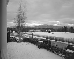 Mountain View Grand (http://www.aimonephoto.com) Tags: 4x5 blackwhite kodaktrix320 largeformat newhampshire pyrocatmc travelwide904x5filmcamera film monochrome safe