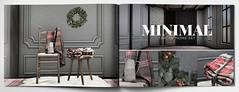 MINIMAL - Tartan Home Set (MINIMAL Store) Tags: minimal tartan home decor decoration set chair blanket jug xmascrown stool skybox collabor88 secondlife sl event
