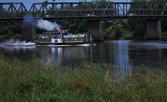 UNDER THE DUBLIN STREET BRIDGE (coral140) Tags: kiwiland whanganui waimarie steamer paddle restored bridge street dublin