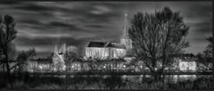 Kampen bij avond, Bovenkerk (ahwou) Tags: kampen bovenkerk ijsseol holland nederland kerk water rivier