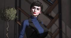 Blue (Miru in SL) Tags: second life sl mesh avatar portrait female girl look makeup genus head freya ison hera izzies lychee serenity eyebrows lipstick lipgloss tram hair