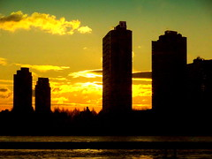 New York Sunrise (dimaruss34) Tags: newyork brooklyn dmitriyfomenko image sky skyline clouds queens sunrise reflections eastriver buildings skyscrepers architecture