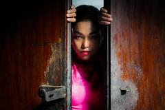 The Door | Nguyễn Vân | Vietnam (Paul Tocatlian | Happy Planet) Tags: vietnam vietnamesegirl hochiminhcity saigon buddhisttemple happyplanet asiafavorites vietnamesemodel door aodai