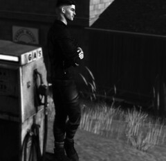 There will come a time I will look in your eye, you will pray to the God that you always denied (MATTY // *OMG*) Tags: sl secondlife male men mens style mesh blog blogger lotd look outfit stylish fashion street blackandwhite bw photo photography art ink