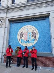 12-7-2019: Dixieland band in the city. Boston, MA