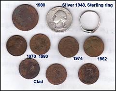 Silver 2a Detector finds (FolsomNatural) Tags: metaldetector finds sites school folsom california