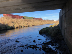 No Trolls Under This Bridge-Cedar Street Rockford IL December 6 2019 (Tom J. Burke) Tags: rockford cp cprail canadianpacific kentcreek il illinois train railroad cedarstreet