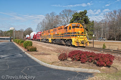 CPDR GE Special at Harrison Bridge RD (Travis Mackey Photography) Tags: cpdr ge special simpsonville sc gp382 train railroad locomotive trees grass sky road