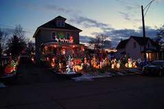 Neighbour's house (haunted snowfort) Tags: beamsville ontario canada niagara christmas christmaslights outdoorchristmaslights merrychristmas december neighbour dusk